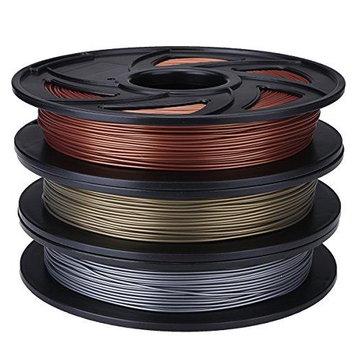 ILS – Aluminum Color 1.75mm b PLA Flexible Filament For 3D Printer RepRap