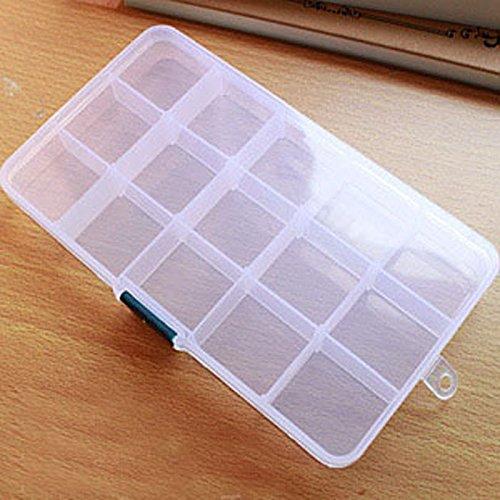 HCFKJ Aufbewahrungskoffer Box Halter Container Pillen Schmuck Nail Art Tipps 15 Raster Home-feuerwehr Leiter
