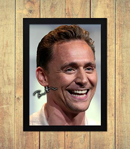 Tom Hiddleston - Loki 4 - High Gloss Printed Poster - A4 (210 x 297 mm) Personalised Framed