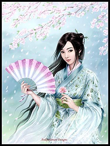 akeansa Diamant Mal Kit 5D Oriental Kostüm Beauty Geschenk 30x40cm