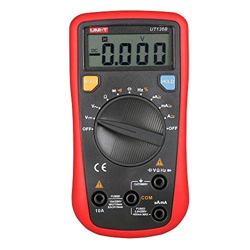UNI-T UT136B digital Multimeter Multimeter aktuelle Spannung Meter Hand-Multimeter / Voltmeter / Stromkreisprüfer (Gleichstrom / Wechselstrom), Auto-Range-Funktion, Amperemeter