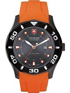 Reloj Swiss Military 06-4170.30.009.79 de cuarzo para hombre con correa de plástico, color naranja de Swiss Military Hanowa