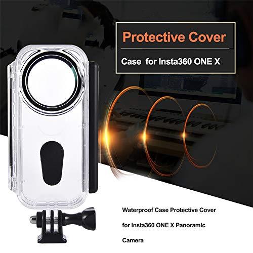 Preisvergleich Produktbild DishyKooker wasserdichte Gehäuseschale für Insta360 ONE X Tauchschutzhülle Kamerazubehör