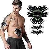 EMS - Estimulador muscular, USB cargador, abdomen abdominal, ejercicio, entrenamiento muscular, pegatinas abdominales