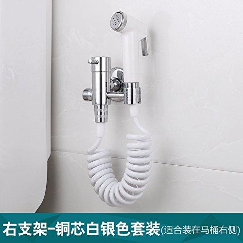 GFEI côté ménages pommeau de douche et toilettes la laveuse et angle de pistolet pulvérisateur / rappel nettoyage multifonctions valve fixée,argent - tout blanc.