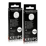 Krups - 2x paquets de pastilles détergentes XS 3000 (10 pièces)