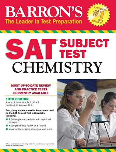 Barron's SAT Subject Test Chemistry, 13th edition