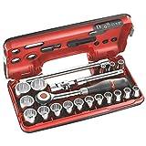 Facom - mod. S.360DBOX112–Set di chiavi a bussola con cricchetto, a 12 punte, per viti con impronta da 1/2