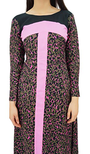 Bimba long hiver manches robe usure maxi pashmina de mélange des femmes Multicolore
