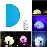 Techway Faltbare LED Book Lampe Nachtlicht Leselampe USB wiederaufladbar 4Farben Nachtlicht, Desklight, bedlight, Buch Lampe, Tischlampe Blue-C