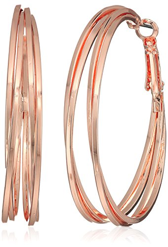 t-tahari-four-wire-clutchless-rose-gold-hoop-earrings
