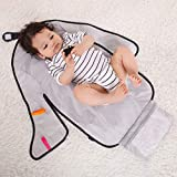 Portable Diaper Changing Pad, KAKIBLIN Baby Change Pad Travel Changing Mat Waterproof Changing Station,Grey Plus