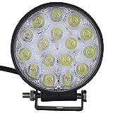 Viugreum® 48W LED Phare de Travail Feux de Jour Auto Etanche DRL Haute Luminosité 9600LM Eclairage Diurne Lampe Avant Rond Conduite de Sécurité pour Jeep Camion Tout-Terrain - Blanc Froid...