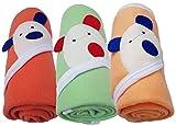 #8: Brandonn Newborn Baby Blankets (36 X 27) (Orange, Peach, C-Green; Pack Of 3)