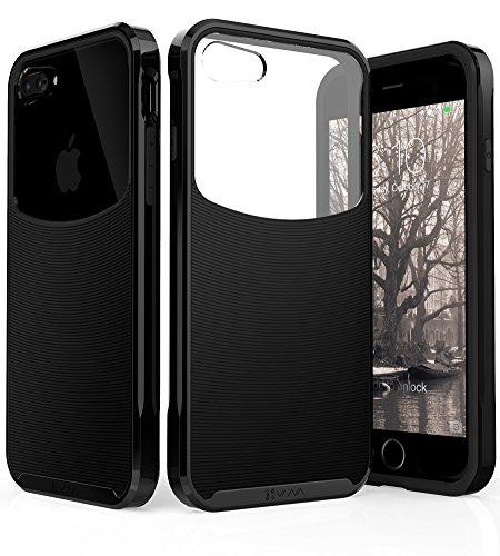 "iPhone 8 Plus / 7 Plus Hülle, Vena [Harmony] Wellentextur [hybride klare Rückwand] [Corner Guard Tropfenbeweis] schlanke Passform für Apple iPhone 8 Plus (5,5""-inch) - Jet schwarz / Schwarz Jet schwarz / Schwarz"