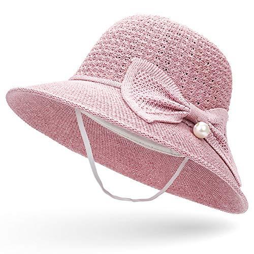Weiblicher tiefrosa Code des neuen Hutes des Bogens des Sommers kühlen