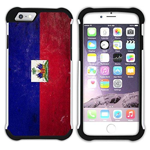 Graphic4You Vintage Uralt Flagge Von Haiti Haitianisch Design Hart + Weiche Kratzfeste Hülle Case Schale Tasche Schutzhülle für Apple iPhone 6 Plus / 6S Plus Haiti Haitianisch