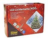 Idena LED Lichterkette, mit Timerfunktion 400er, warm weiß und bunt umschaltbar, 31097