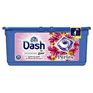 Dash 2en1 Perles Lessive en Capsules Coquelicot & Fleurs de Cerisier 30Lavages