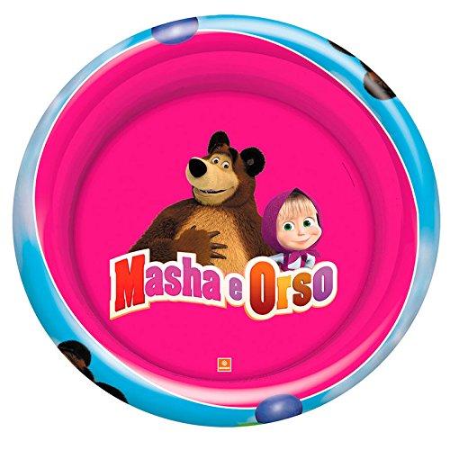 Mondo 16649 - Masha e l'Orso Piscina Gonfiabile, 100 Cm