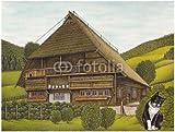 """Alu-Dibond-Bild 80 x 60 cm: """"Vogtsbauernhof Gutach.Schwarzwald"""", Bild auf Alu-Dibond"""