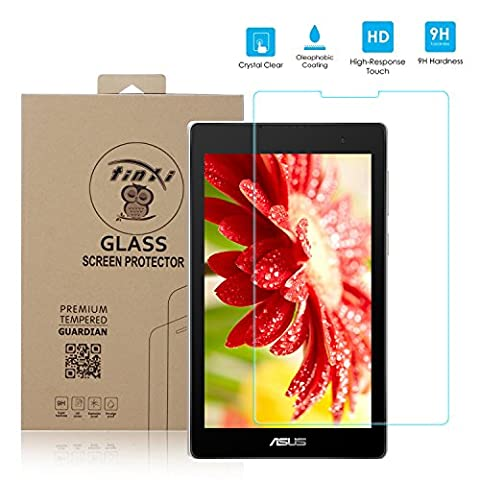 tinxi® Protection écran Asus ZenPad C 7.0 Z170C/Z170CG 7 pouces Film de protection d'écran en verre trempé pour écran Asus ZenPad C 7.0 Z170C/Z170CG protecteur optimal et ultra dur protecteur d'écran en verre trempé Transparent 2.5D
