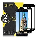 CRXOOX [2 Unidades] Protector de Pantalla para Samsung Galaxy S7, Anti-Aceite, Arañazos, Ampollas y Huellas Dactilares, HD, Dureza 9H, 0.3 mm Cristal Templado (Negro)