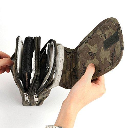 Faleto Herren Multifunktional Outdoor Reisen Sport Tasche Hüfttasche Bauchtasche Gürteltasche Handytasche Tasche Waist Bag für Camping Reise Wandern Camouflage#01