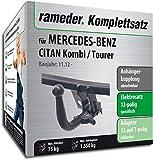 Rameder Komplettsatz, Anhängerkupplung abnehmbar + 13pol Elektrik für Mercedes-Benz CITAN Kombi/Tourer (113639-10862-3)