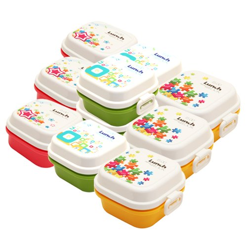 Easyhome Brand Square Lunch Box With Spoon For Play School Kids Birthday Return Gifts 10 Pcs Set