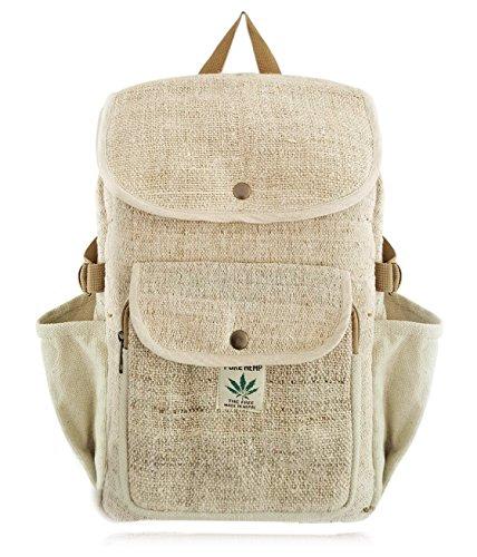 Preisvergleich Produktbild 100% PURE Hanf Laptop Rucksack NEU / Tasche / Daypack mit Laptop-Hülle aus Nepal, Unisex (braun) | BeHemppy