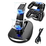 AMANKA Dual USB Dock Station Stand for Playstation 4 Sony PS4...
