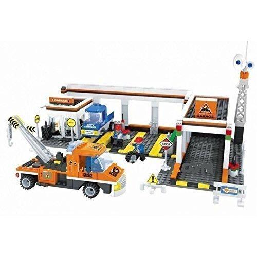 AUSINI marca ciudad garaje reparación de automóviles remolque trauck compatible bricks #25701 garaje R