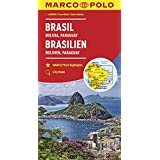 MARCO POLO Kontinentalkarte Brasilien, Bolivien, Paraguay, Uruguay 1:4 000 000 (MARCO POLO Kontinental /Länderkarten)