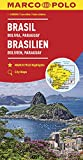 MARCO POLO Kontinentalkarte Brasilien, Bolivien, Paraguay, Uruguay 1:4 000 000: Wegenkaart 1:4 000 000 (MARCO POLO Kontinental /Länderkarten) -