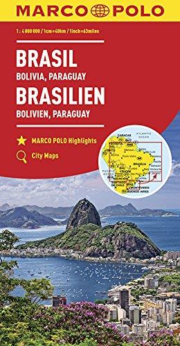 MARCO POLO Kontinentalkarte Brasilien, Bolivien, Paraguay, Uruguay 1:4 000 000: Wegenkaart 1:4 000 000 (MARCO POLO Kontinental /Länderkarten)