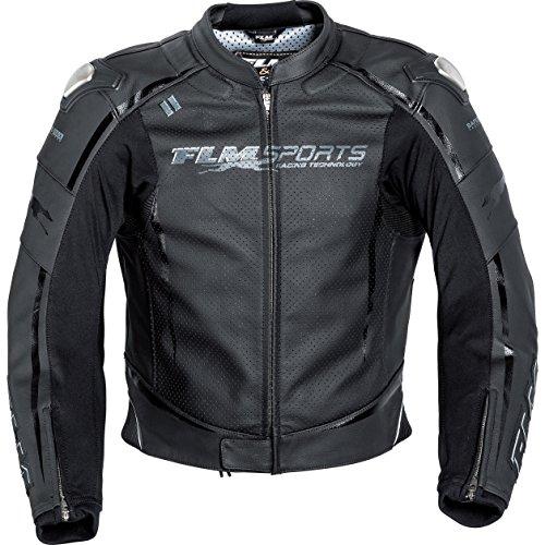 FLM Motorrad-Jacke Motorrad-Kombi-Jacke Sports Leder Kombijacke 3.0 schwarz 50