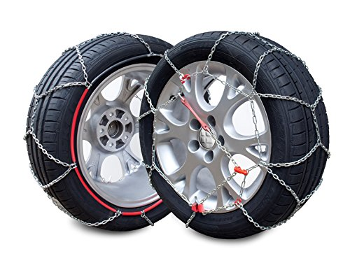 E-9 NEO - Kit 2 snow chains, 9mm. E-9 NEO, size 120 valid for tyres: 215/55_R18; 215/65_R16; 225/45_R19; 225/50_R18; 225/55_R17; 225/60_R17; 225/65_R16; 235/45_R18; 235/50_R17; 235/50_R18; 235/60_R16; 235/70_R15; 245/35_R19; 245/40_R18; 245/40_R19; 245/45_R18; 245/55_R16; 255/35_R19; 255/40_R18; 255/45_R17; 265/40_R17