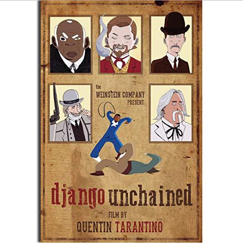 yhnjikl Django Unchained Quentin Tarantino Vintage Film Wandkunst Malerei Druck Auf Seide Leinwand Poster Dekoration 40X60 cm Ohne Rahmen