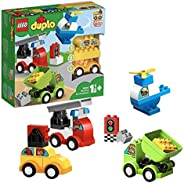 LEGO 10886 DUPLO My First Car Creations Building Bricks Set with 4 Buildable Vehicles for 1.5 Years Old