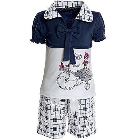 Kinder Mädchen Freizeit Kurzarm Shirt Jogging Hose Outfit 2tl Set Kleidung 20468, (Designer Bauchtanz Kostüme)
