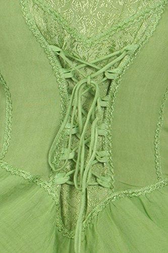 SakkasLady Mary Jacquard Korsett Taschentuch Saum Kleid Frühlingsgrün