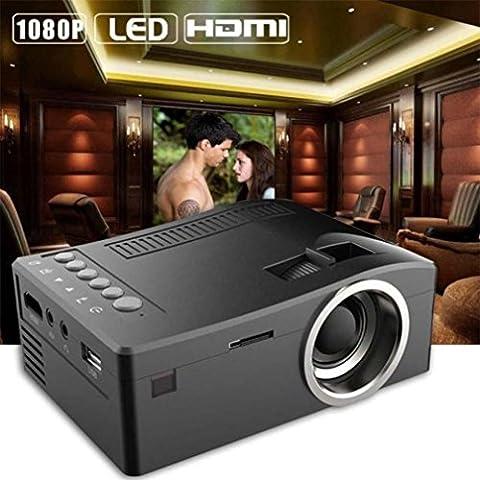 Videoprojecteur Kolylong UC18 1080P HD LED Accueil MulitMedia Home Cinéma LCD TV USB VGA SD HDMI Portable Mini Projecteur