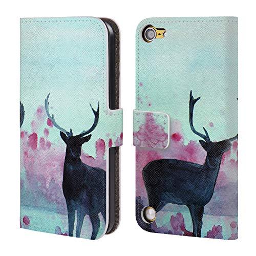 Head Case Designs Offizielle Mai Autumn Abendzeit Tiere Brieftasche Handyhülle aus Leder für Touch 5th Gen/Touch 6th Gen (Tiere Mais-schale)