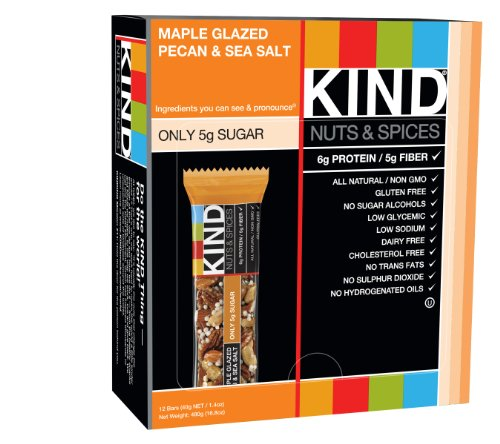 Kind Nuts and Spices Bars Maple Glazed Pecan & Sea Salt 1.4 ounce Bars