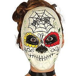 Guirca Careta Día de muertos para Halloween, talla única, color marfil (2554)