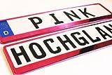 2 Kennzeichenhalter PINK Nummernschildhalter Kennzeichenhalterung NEU & OVP