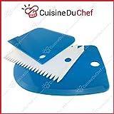 ✮ CuisineDuChef ✮ Raschietti da pasticceria in silicone | Set di 3 | Raschia & Taglia impasto | Spatola per torte, pane, brioche, sac a poche | Raschia semirigida in plastica | Qualità superiore