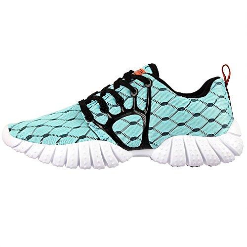 Aleader, scarpe da corsa e per lo sport leggere, in rete, da donna Blu (Azzurro)
