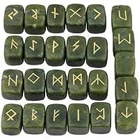 Winmaarc grüner Aventurin Steine/ Runen mit Gravur, Set, heilende Chakra, Reiki Jade-grün preisvergleich bei billige-tabletten.eu